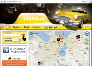 Taxi location service in Tallinn, Estonia